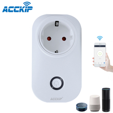 ACCKIP Europe Plug inteligentne gniazdo WiFi sterowanie głosem ustawienie czasu Tuya inteligentne życie App inteligentna wtyczka 16A miernik energii oszczędzanie energii