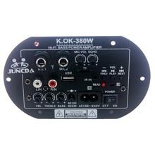 KOK-380-amplificador de Audio Digital con Bluetooth para coche y hogar, Subwoofer con placa de amplificador de Audio, 12V, 24v, CA de 220v