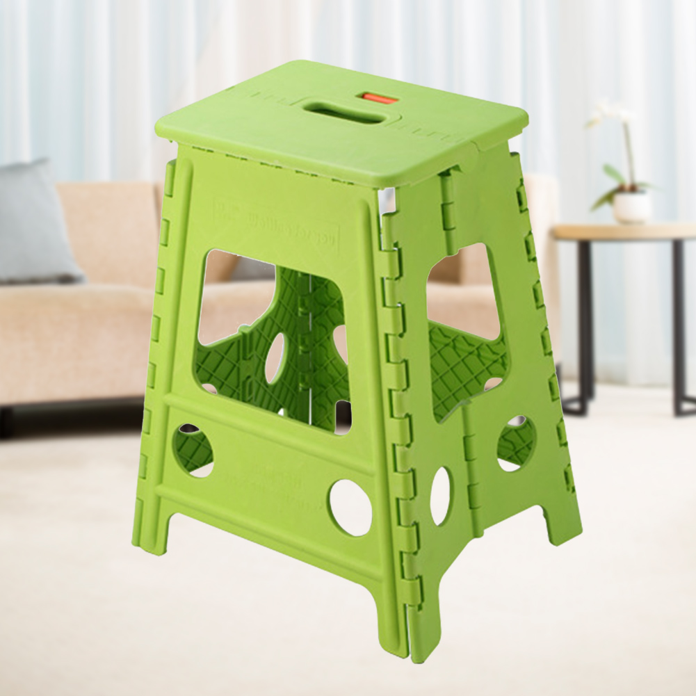 Stable Travel Outdoor Camping Chair Non Slip Home Folding Step Stool Thickened Store Bathroom Plastic Portable Self Locking