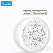 Блок управления умным домом Aqara Gateway, хаб для умного дома Apple Homekit и приложение aqara smart home со светодиодной подсветильник кой RGB