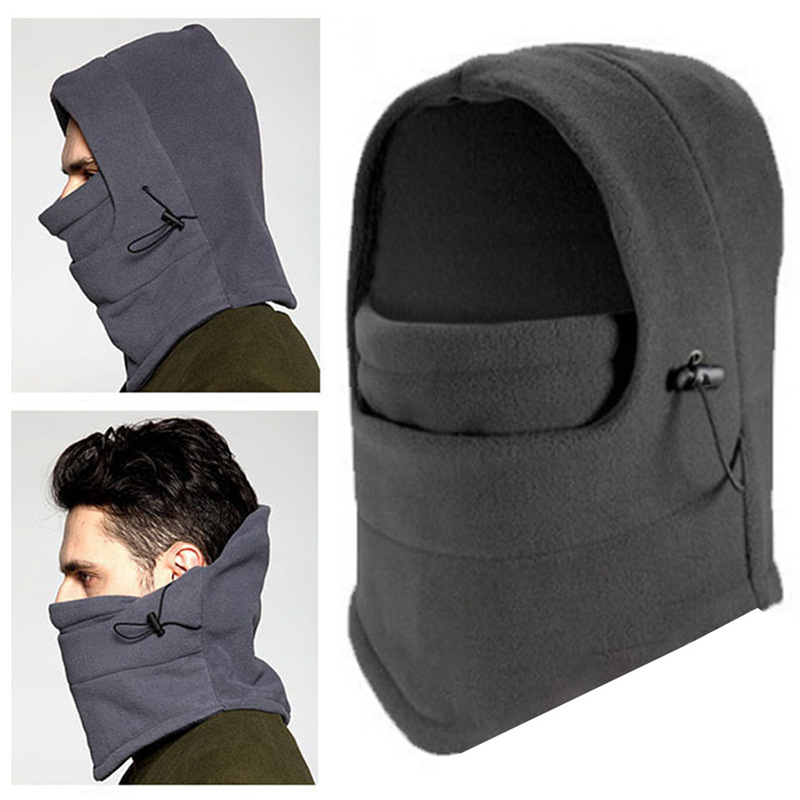 2019 Fleece Balaclava Hat Hooded Neck Warmer Winter Sports Face Mask For Men Ski Bike Motorcycle Helmet Masked Cap
