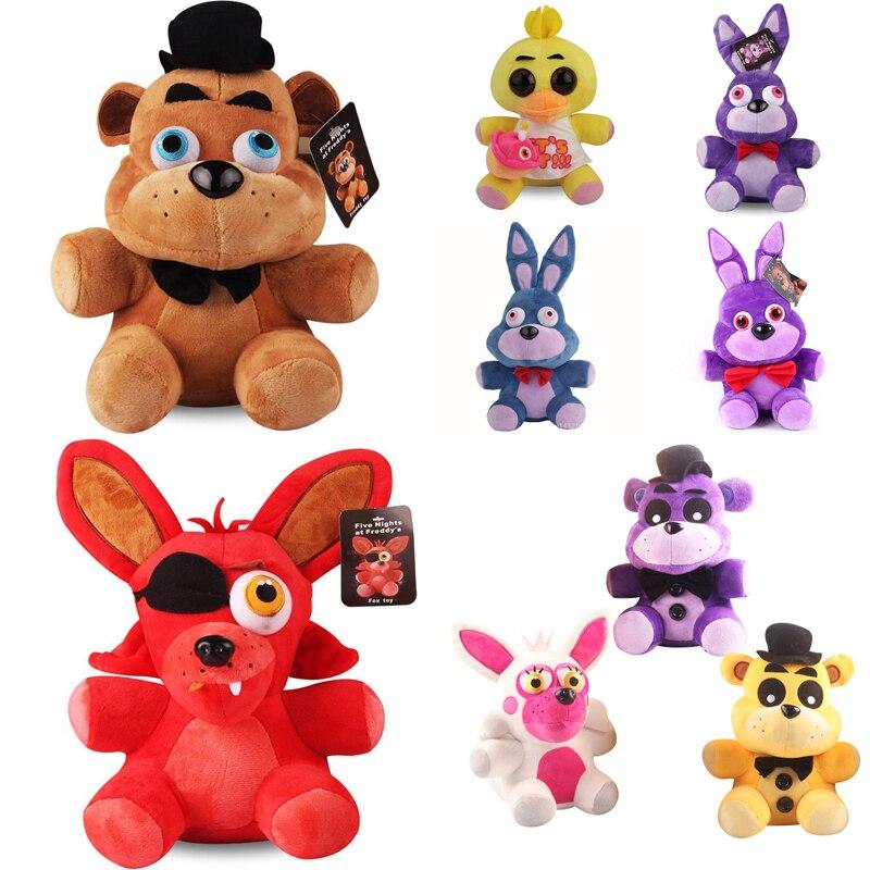 Five Nights At Freddy's Plush Doll Toys  Freddy Bear Red Foxy Chica Eyes Bonnie Soft  Plush Stuffed Doll For Kid Birthday  Gift