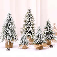 Artificial Christmas Tree Ornament Home Table Desktop Ornament Xmas Decoration For Mall Window Snow Fir Decor