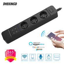 Smart Wifi  Power Strip 3 AC EU Outlets Plug 4 USB Charging Port Timing App Voice Control Work with Alexa Google Home Assistant