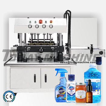 China  Fully Automatic Glass Bottle Screw Aluminium  Sealing Capping Machine health raising pot is fully automatic and thickened glass