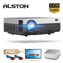 אלסטון T26 סדרת מלא HD 1080P מקרן 6500 Lumens 4K בית קולנוע תיאטרון HDMI VGA USB טלוויזיה T26L t26K proyector עם מתנה