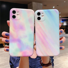 Moskado Colorful Gradient Marble Texture Phone Case For iPhone 11 Pro SE Max X XR XS Max 7 8 Plus Soft IMD Silicone Back Cover(China)
