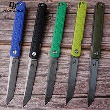 """8.5 """"FH11 60 61HRC סכינים 5 צבע D2 להב G10 ידית מתקפל סכין בתוספת כיס EDC מתקפל סכין שירות קמפינג חיצוני EDC"""