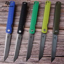 "8.5"" FH11 60 61HRC Knives 5 Color D2 Blade G10  Handle Folding Knife Plus Pocket EDC Folding Knife Camping Utility Outdoor EDC"