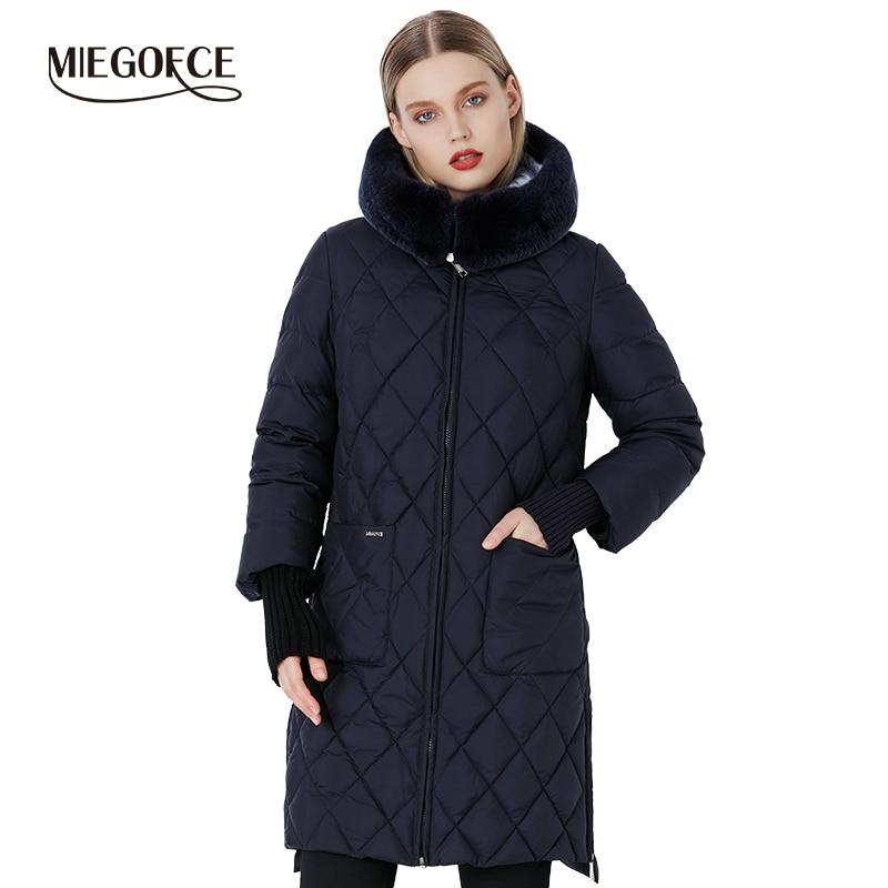 MIEGOFCE 2019 New Collection Winter Women Jacket Coat Original Fur Collar Women Parkas Fashion Brand Womens Cotton Padded Jacket