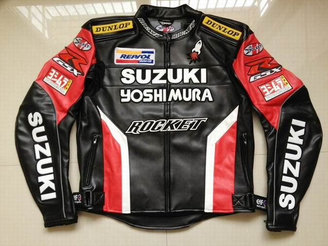 Hommes chauds imperméable à l'eau coupe-vent moto course vestes pour SUZUKI cuir PU Motocross veste d'équitation