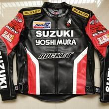 Hot Men Waterproof Windproof Motorcycle Racing Jackets for SUZUKI PU Leather Mot