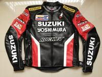 Hot Men Waterproof Windproof Motorcycle Racing Jackets for SUZUKI PU Leather Motocross Riding Jacket
