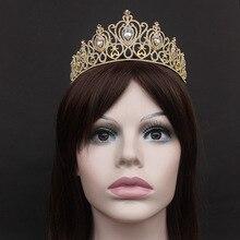 Princess Crown Decoration for Hair Jewelry Wedding Tiara Bridal Accessories Bling Headband Ornaments Diadem Girls