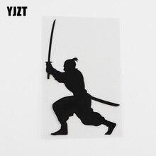 Decal Vinyl Car-Sticker Samurai Martial-Arts Black/silver YJZT 8A-0237 Man