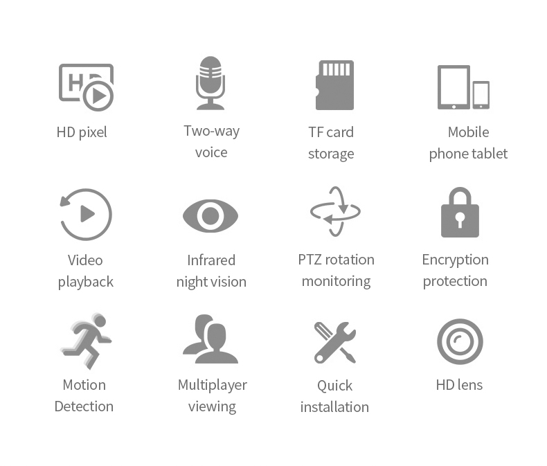 Hec3549409bf7405c9bff9e6e49ccb7929 720/1080P PTZ Wireless Mini IP Camera Move Detection Infrared Night Vision Home Security Surveillance Wifi Camera Cloud Service