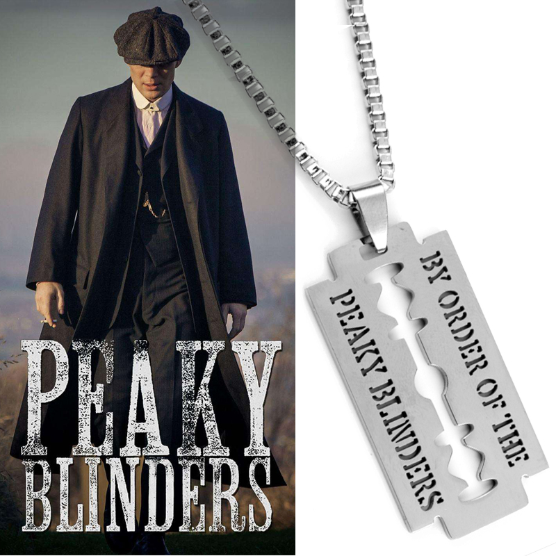 Razor Blade Necklace Movie Jewelry Peaky Blinders blade Pendants&Necklaces  Stainless Steel Necklace for Women Men Gift