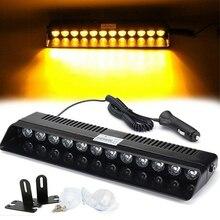 1Set 12V 12 LED Car Led emergenza stroboscopica Flash spia 12W polizia lampeggiante ambra Car styling