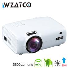 WZATCO E600 Android 10 0 Wifi inteligentny przenośny Mini projektor LED wsparcie Full HD 1080p 4K AC3 wideo kino domowe Beamer Proyector tanie tanio Korekcja ręczna Automatyczna korekcja CN (pochodzenie) 4 3 16 9 X 1 1 About 450 1280x768 dpi 3600 Lumenów 40-200 cali