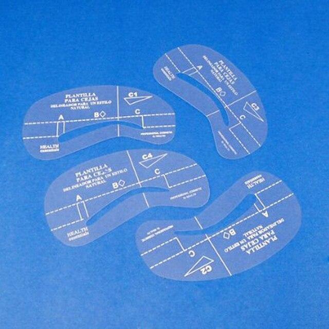 4Pcs Eyebrow Shaping Stencil Set Grooming Tools Drawing Card for Dashing Eyebrows C1-C4 SK88 1