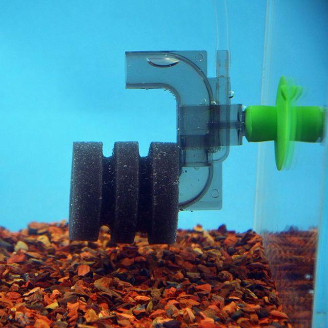 Mini Aquarium Filter Aquarium Garnalen Tanks Vijver Luchtpomp Spons Filters U-Vormige Mini Wc Biochemische Filtering Apparaat