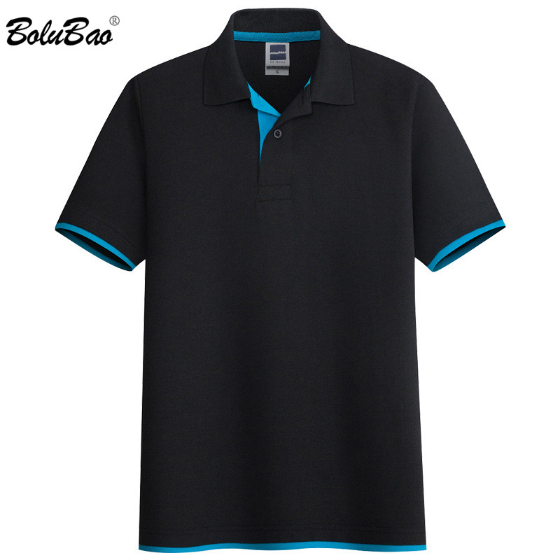 BOLUBAO Casual Brand Men Solid Polo Shirts Tops Men's Slim Short Sleeve Polos Summer New Business Polo Shirt Male