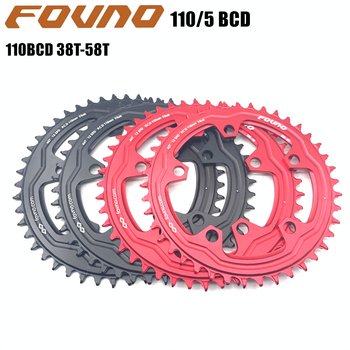 FOVNO 110/5 BCD 110BCD Road Bike Narrow Wide Chainring 38T-58T Bike Chainwheel For shimano sram Bicycle crank Accessories image