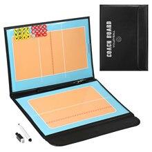 Planche tactique de Volley-Ball plaque tactique Handball Coaching équipement de balle de Volley formation Grains magnétiques et stylo planche pliable