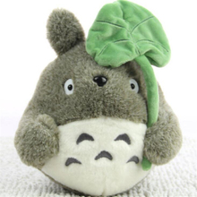 25CM Cute Soft Doll My Neighbor Totoro Plush Toy Kawaii Totoro With Lotus Leaf Kids Toys Children Birthday Christmas Gift