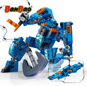 Image 1 - BanBao Robot Transformer Speedboat 2 in 1 Building Blocks Creative Educational Bricks Model Toys Kids Children Gift 6318