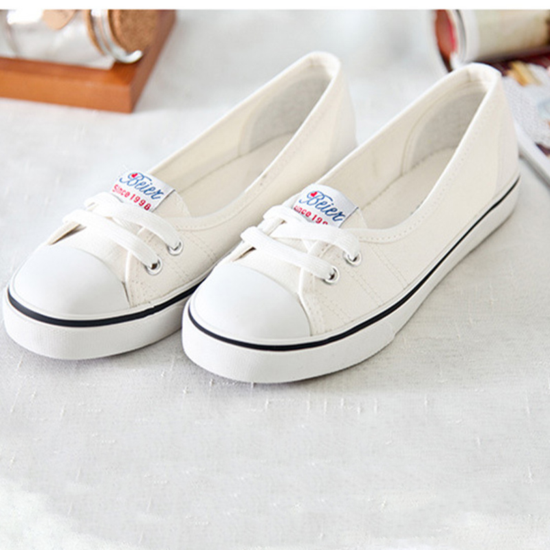 2020 Women Vulcanized Female Canvas Shallow Nurse Shoes Ladies Flats Women's Casual Sneakers Woman Slip On Footwear Spring
