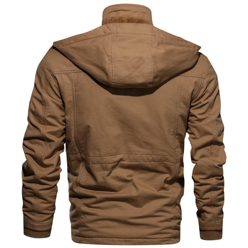 Новинка 2019, зимняя куртка для мужчин, повседневное плотное тепловое пальто, армейская куртка пилота, куртки ВВС, куртка карго, верхняя одежда, флисовая куртка с капюшоном, одежда 4XL - 3