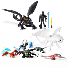 923cm Dragon Toothless Action figure Light Fury Toys For Childrens Birthday Gifts
