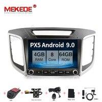 Android 9.0 4+64G Car Radio Multimedia Video Player For Hyundai Creta IX25 2015 2018 GPS Navigation dvd WIFI BT radio stereo