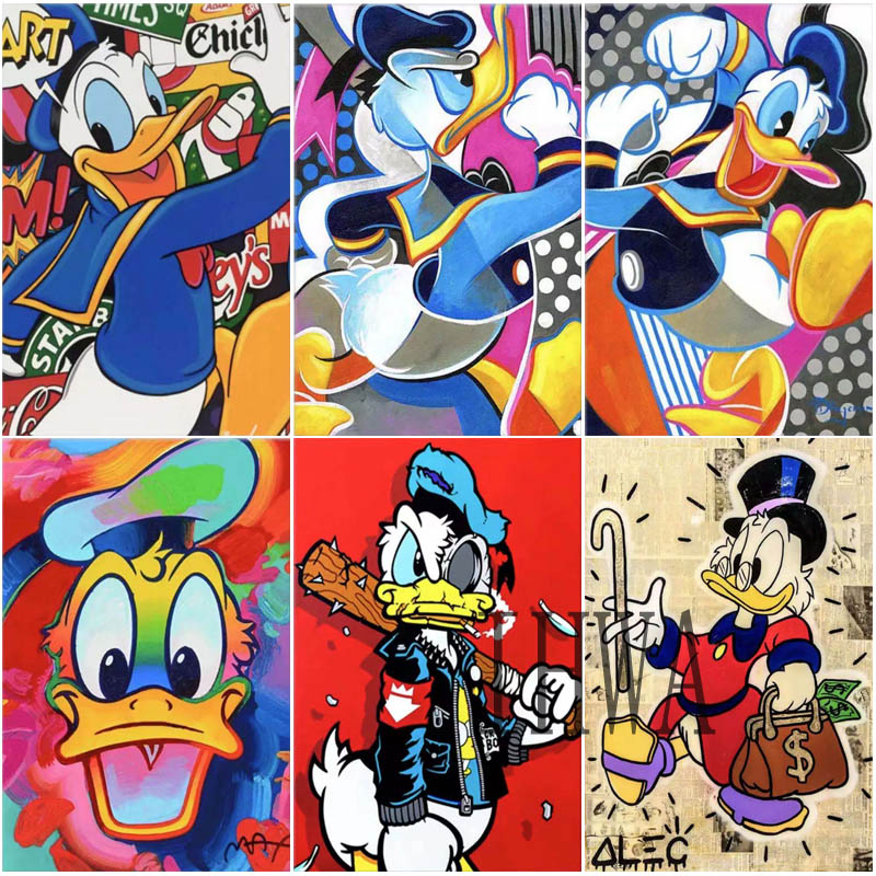 Disney Donald Duck 5D DIY Diamond Painting Embroidery Cross Stitch Set Handmade Gift Home Decoration Gift