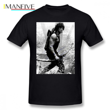 Rambo T Shirt Rambo Stallone Autographed Photo Bu FW 1980 S T-Shirt Cotton Men Tee Shirt Print Cute Plus size  Streetwear Tshirt willie roaf autographed hand signed new orleans saints 8x10 photo