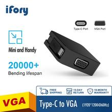 iFory USB C to VGA Adapter USB 3.1 Type C Male to VGA Female 1080P Adapter Compatible with MacBook Pro 2019, Mac Mini, Surface B