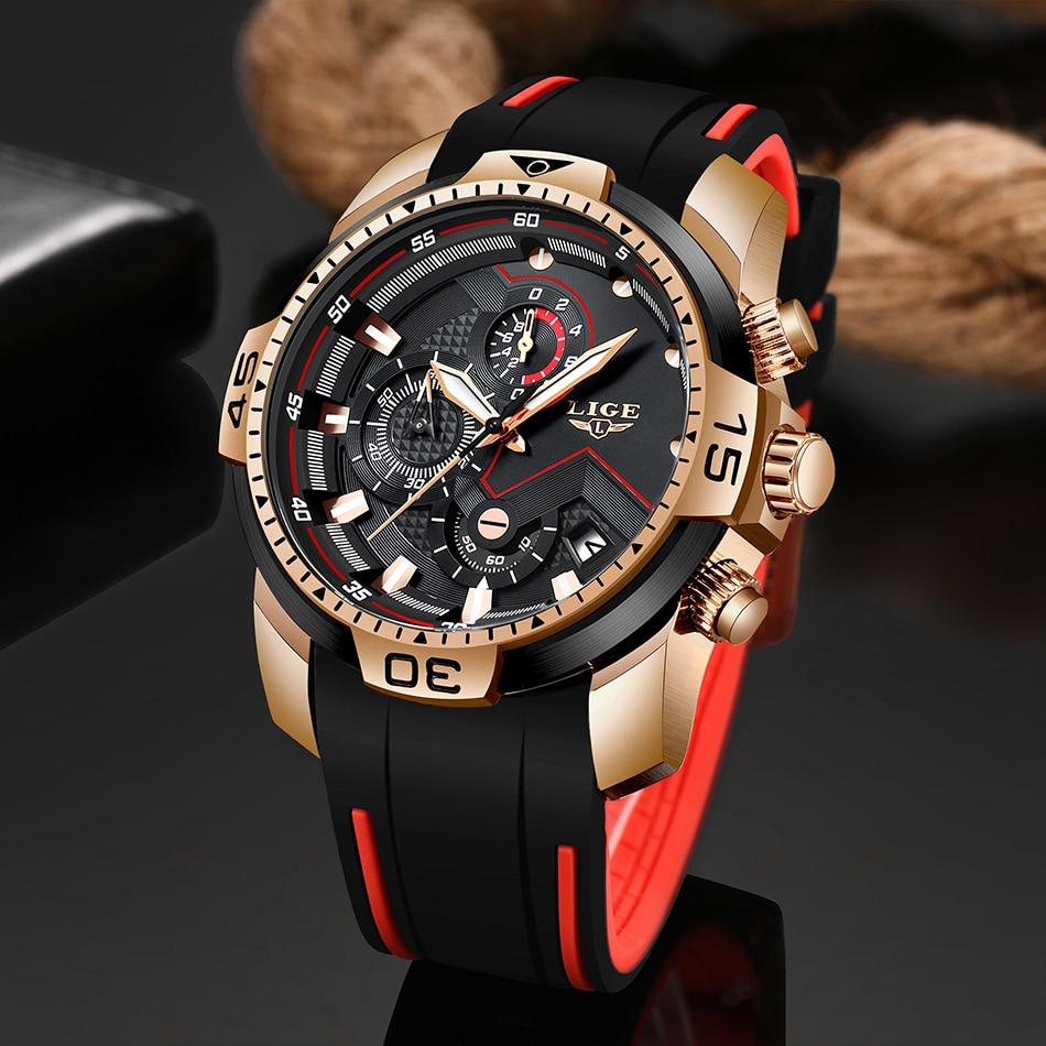 Hec367d8203c14903b50a0f9871582d0bt 2020 LIGE Sport Watch Men Brand Luxury Chronograph Silicone Strap Quartz Mens Watches Waterproof Clock Relogio Masculino+Box