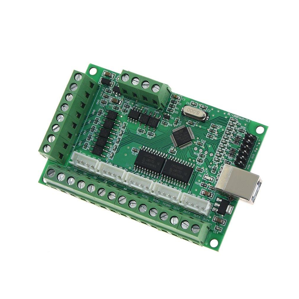 5-Axis USB MACH3 CNC Breakout Board 100KHz Driver Motion Engraving Machines Controller Module AM9587 V2.1