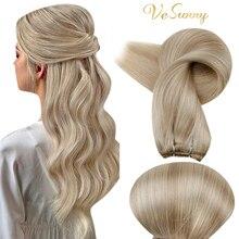 VeSunny Hair Bundles Hair Weft Extensions Human Hair Blonde Hair Weft Remy Sew In Extensions