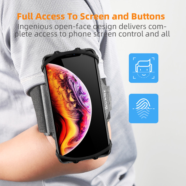 Removable rotating sports phone wristband running wrist bag generation driving takeaway navigation arm bag fitness cycling trave 2