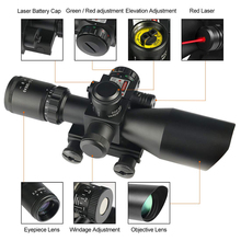 Mil-Dot Reticle Sight Scope Hunting Riflescope 2.5-10 x 40E Times Zoom Laser Illuminated Tactical Rifle 20mm Rail Mounts