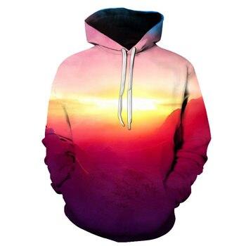цена на Male hoodie Fall fashion hoodie Gradient 3D Hoodie Casual sweatshirt Coat Winter Men/Women Hoodies Full Sleeve neutral Hoodie