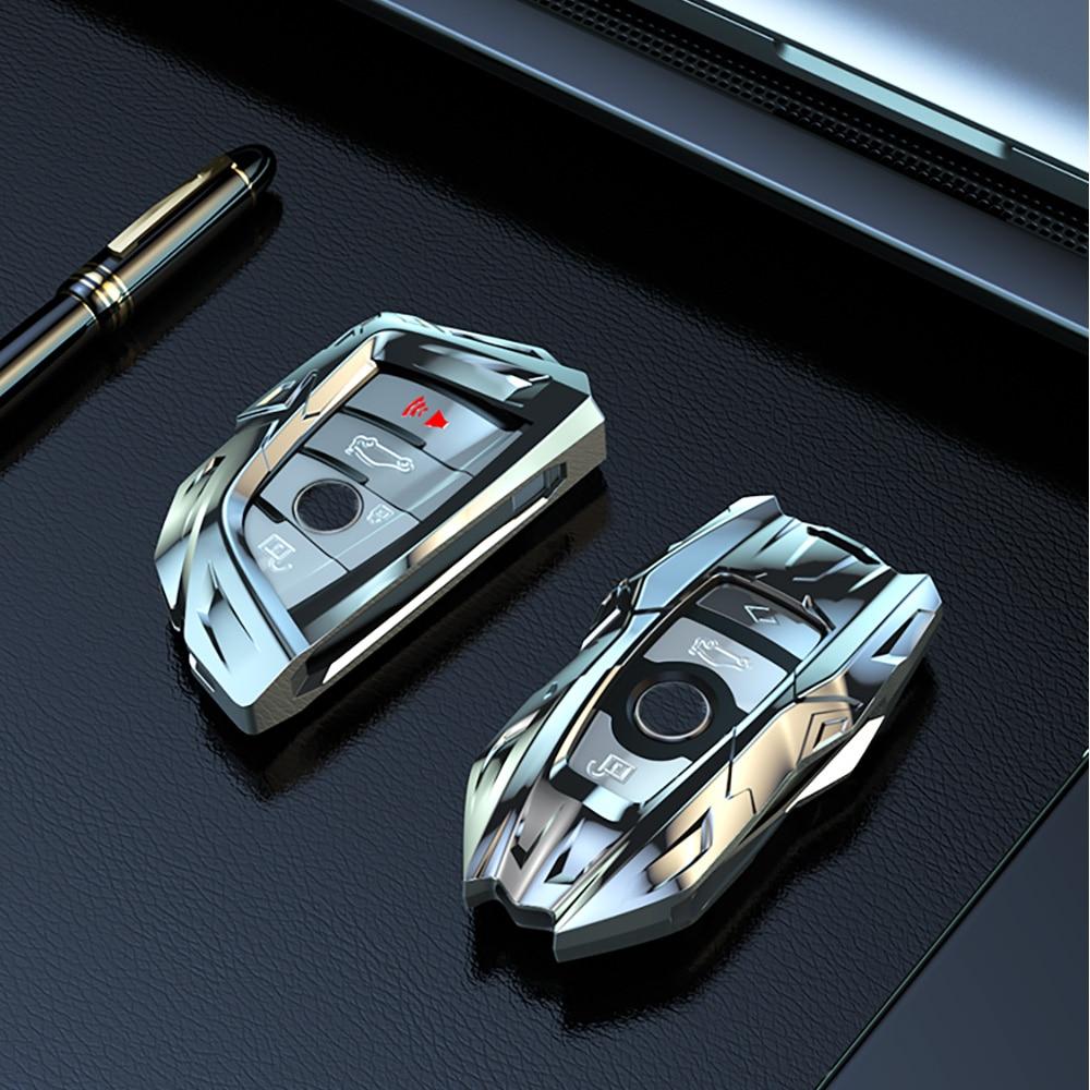 Unique Mecha Appearance Zinc Alloy Car Key Case Shell For BMW X5 F15 X6 F16 G30 7 1 2 5 Series G11 X1 X5 F48 218i