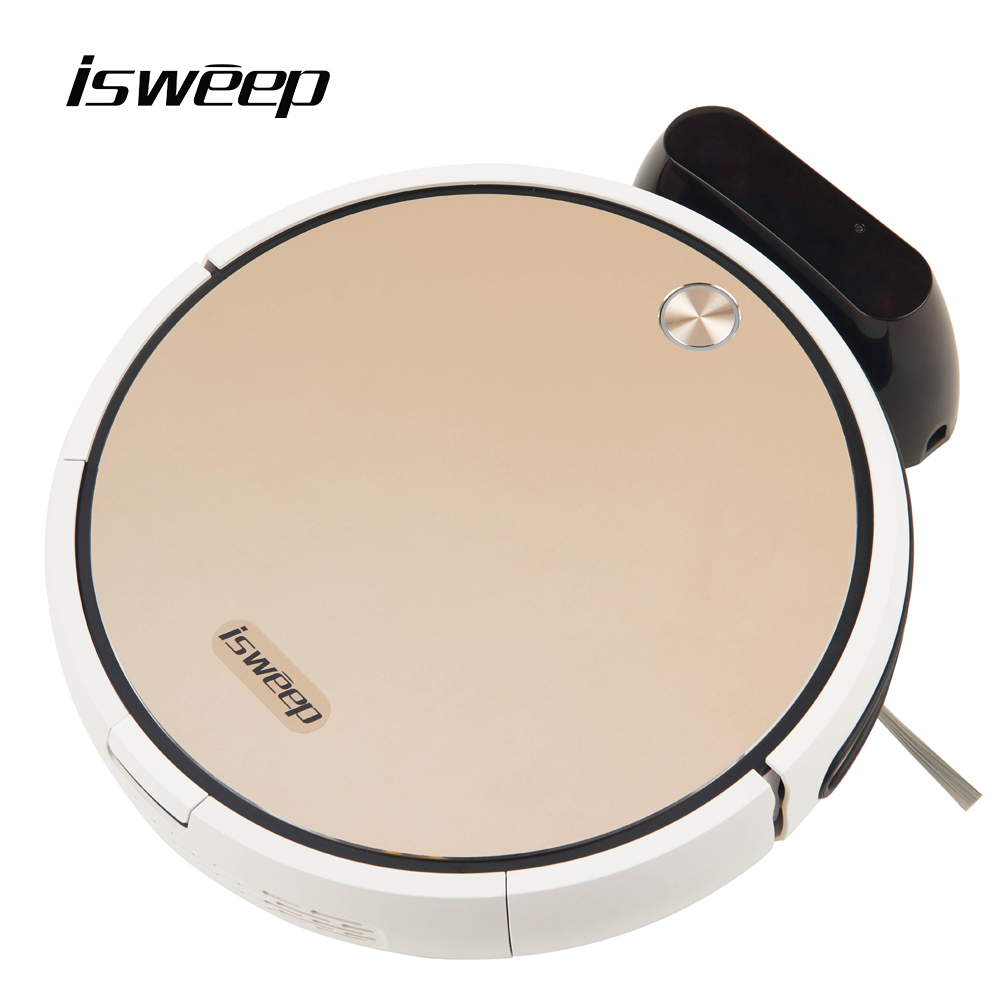 Isweep X3 Robot Vacuum Cleaner APP Control 1800 PA Wet and Dry Home Sweeper Auto Recharge EU Plug English Version Gift 2 Brush(China)