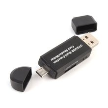 Multifunction Smart OTG Card Reader High-speed USB 2.0 SD Micro-SD Card Reader USB Adapter for Android Phone Computer