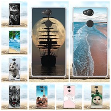 For Sony Xperia XA2 Case Ultra-slim Soft TPU Silicone Cover Scenery Patterned Coque Capa