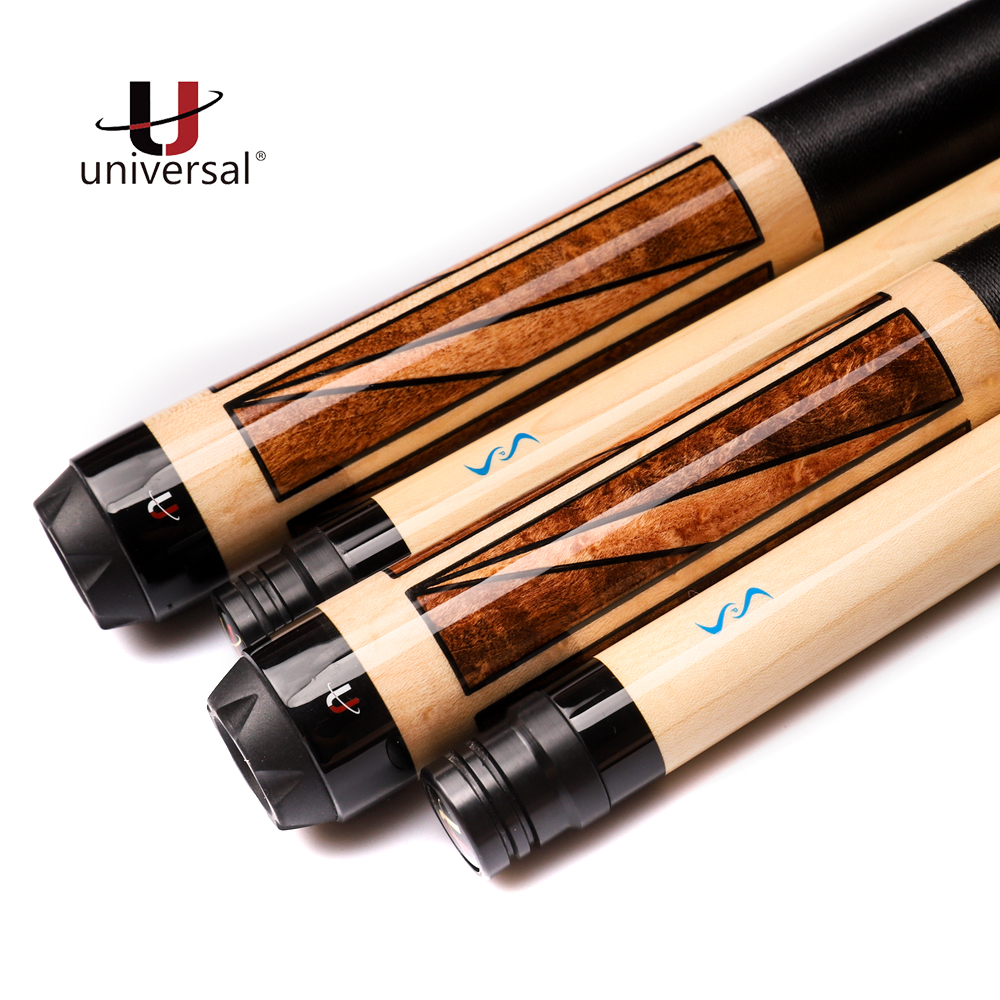 Free Shipping Universal UN115-9 Billiard Pool Cue Stick Kamui Tip Technology Maple Billar Kit with Protective Tip Cover