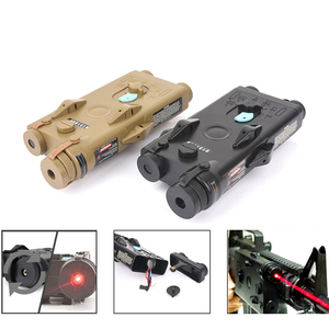 Softair Tactical AN PEQ-2 Battery Case Red laser Ver for 20mm Rails No Function Red laser Ver ANPEQ-2 Battery Case WEX426(China)