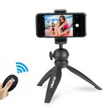 Ulanzi Smartphone חצובה w טלפון חצובה הר מהדק ערכת, גמיש מיני חצובה עבור iPhone X 8 Vlogging Youtube הזרמה